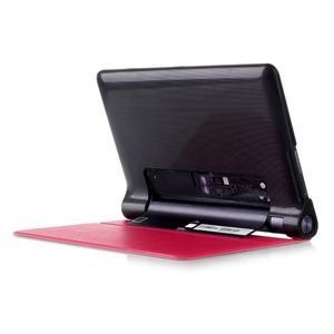 Polohovatelnotelné PU kožené pouzdro na Lenovo Yoga Tab 3 8.0 - rose - 3