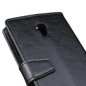 Leat PU kožené pouzdro Lenovo Vibe P1 - černé - 3