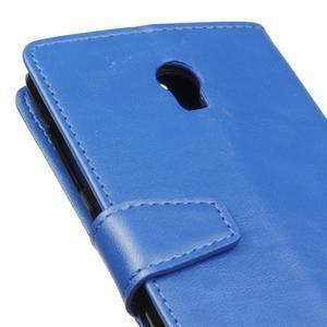 Leat PU kožené pouzdro Lenovo Vibe P1 - modré - 3