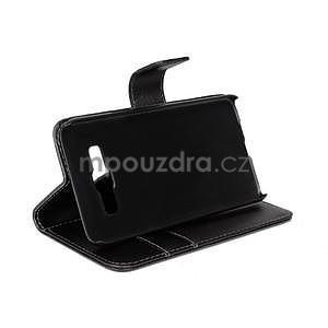PU kožené pouzdro na Samsung Galaxy A3 - černé - 3