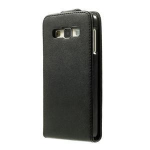 PU kožené flipové pouzdro na Samsung Galaxy A3 - černé - 3