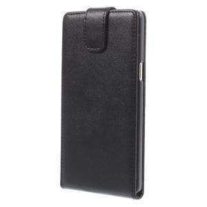 PU kožené flipové pouzdro na Samsung Galaxy A5 - černé - 3