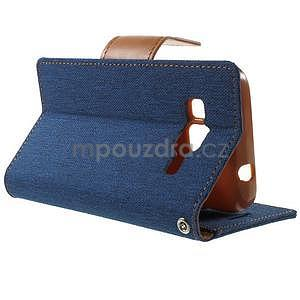 Stylové textilní/PU kožené pouzdro na Samsung Galaxy Core Prime - jeans - 3