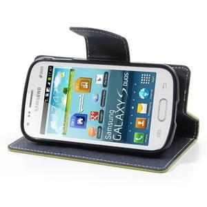Diary pouzdro na mobil Samsung Galaxy S Duos/Trend Plus - zelené - 3