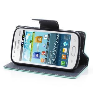Diary pouzdro na mobil Samsung Galaxy S Duos/Trend Plus - azurové - 3