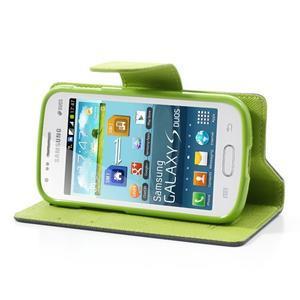 Diary pouzdro na mobil Samsung Galaxy S Duos/Trend Plus - tmavěmodré - 3