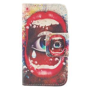 Peněženkové pouzdro pro Samsung Galaxy S Duos / Trend Plus - oko - 3