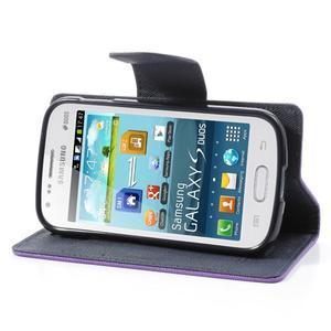 Diary pouzdro na mobil Samsung Galaxy S Duos/Trend Plus - fialové - 3