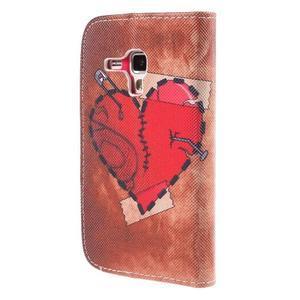 Peněženkové pouzdro pro Samsung Galaxy S Duos / Trend Plus - zlomené srdce - 3