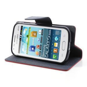 Diary pouzdro na mobil Samsung Galaxy S Duos/Trend Plus - červené - 3