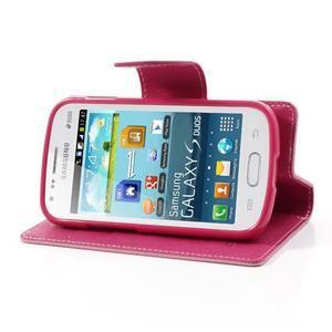 Diary pouzdro na mobil Samsung Galaxy S Duos/Trend Plus - růžové - 3