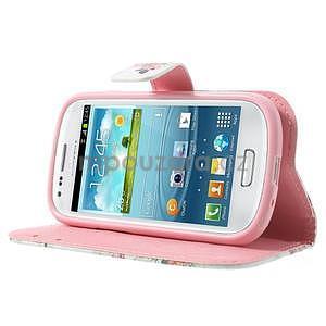 Peněženkové pouzdro na Samsung Galaxy S3 mini - květiny - 3