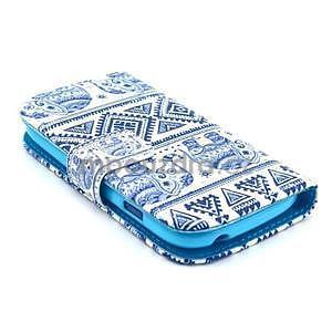 Peněženkové pouzdro na Samsung Galaxy S3 mini - sloni - 3