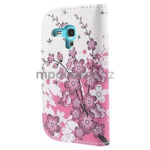 Pouzdro na mobil Samsung Galaxy S3 mini - kvetoucí větvička - 3