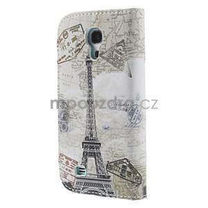 Peněženkové pouzdro pro Samsung Galaxy S4 mini - Eiffelova věž - 3