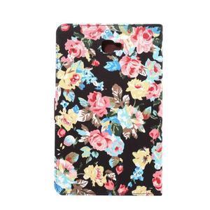 Květinové pouzdro na tablet Samsung Galaxy Tab A 10.1 (2016) - černé - 3