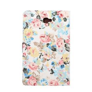 Květinové pouzdro na tablet Samsung Galaxy Tab A 10.1 (2016) - bílé - 3