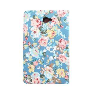 Květinové pouzdro na tablet Samsung Galaxy Tab A 10.1 (2016) - modré - 3