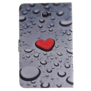 Closy PU kožené pouzdro na Samsung Galaxy Tab A 10.1 (2016) - srdce - 3