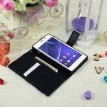 Peněženkové pouzdro na mobil Sony Xperia M2 - modrý motýl - 3/5