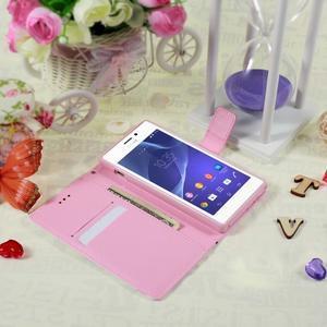 Peněženkové pouzdro na mobil Sony Xperia M2 - květy - 3