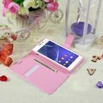 Peněženkové pouzdro na mobil Sony Xperia M2 - květy - 3/5