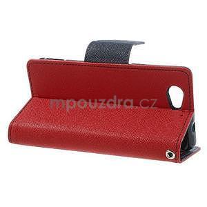 Fancy peněženkové pouzdro na Sony Xperia Z1 Compact - červené - 3