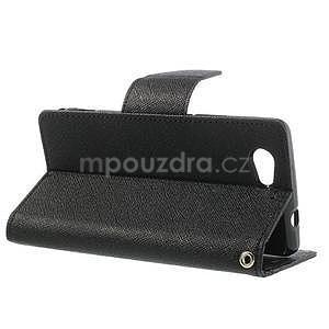 Fancy peněženkové pouzdro na Sony Xperia Z1 Compact - černé - 3