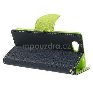 Fancy peněženkové pouzdro na Sony Xperia Z1 Compact - tmavěmodré - 3