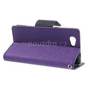 Fancy peněženkové pouzdro na Sony Xperia Z1 Compact - fialové - 3
