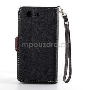 Leaf peněženkové pouzdro na Sony Xperia Z3 Compact - černé - 3