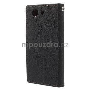 Diary peněženkové pouzdro na mobil Sony Xperia Z3 Compact - černé/hnědé - 3
