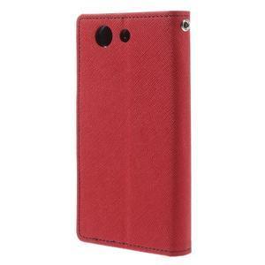 Diary peněženkové pouzdro na mobil Sony Xperia Z3 Compact - červené - 3