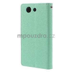 Diary peněženkové pouzdro na mobil Sony Xperia Z3 Compact - azurové - 3