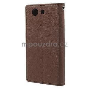 Diary peněženkové pouzdro na mobil Sony Xperia Z3 Compact - hnědé - 3