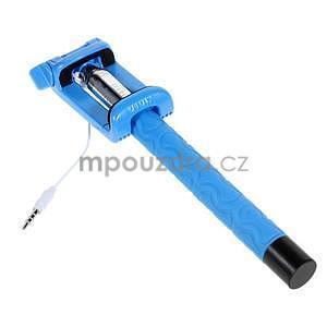 Selfie tyč s automatickým spínačem na rukojeti - světle modrá - 3
