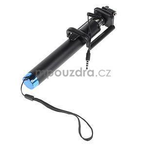 GX automatická selfie tyč se spínačem - modrá - 3