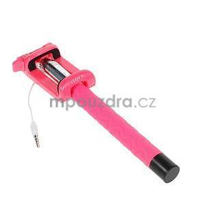 Selfie tyč s automatickým spínačem na rukojeti - rose - 3
