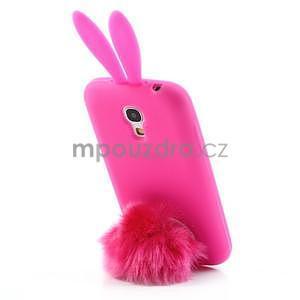 Silikonový obal na Samsung Galaxy S4 mini - rose králík - 3