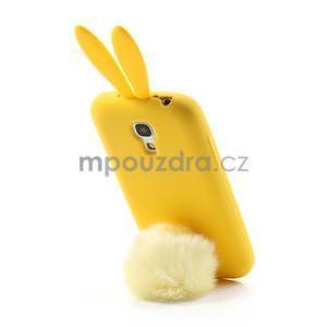 Silikonový obal na Samsung Galaxy S4 mini - žlutý králík - 3
