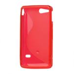 Gelové S-line pouzdro na Sony Xperia Go- červené - 3/3