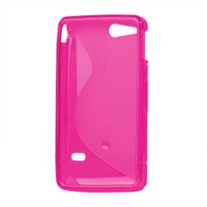 Gelové S-line pouzdro na Sony Xperia Go- růžové - 3