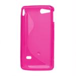 Gelové S-line pouzdro na Sony Xperia Go- růžové - 3/3