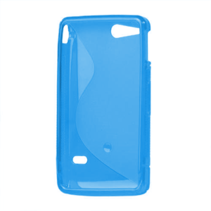 Gelové S-line pouzdro na Sony Xperia Go- modré - 3