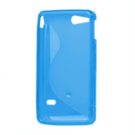 Gelové S-line pouzdro na Sony Xperia Go- modré - 3/3