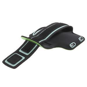 Fittsport pouzdro na ruku pro mobil do rozměrů 143.4 x 70,5 x 6,8 mm - zelené - 3
