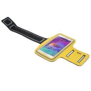 Gym běžecké pouzdro na mobil do rozměrů 153.5 x 78.6 x 8.5 mm - žluté - 3
