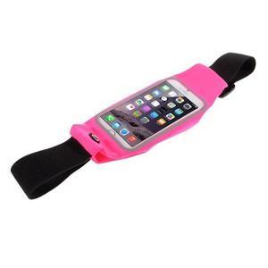 Sportovní kapsička přes pas na mobily do rozměrů 149 x 75 mm - rose - 3