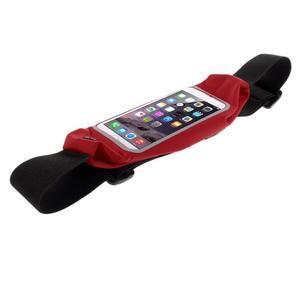Sportovní kapsička přes pas na mobily do rozměrů 149 x 75 mm - červené - 3
