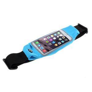 Sportovní kapsička přes pas na mobily do rozměrů 149 x 75 mm - modré - 3